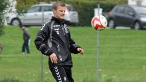 Christian Kalvenes på trening med Brann